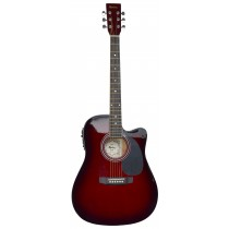 MADERA SP411CE - ELECTRO-ACOUSTIC 41'' GUITAR - WINE RED