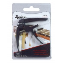 MADERA UX28 CAPO FOR UKULELE - BLACK
