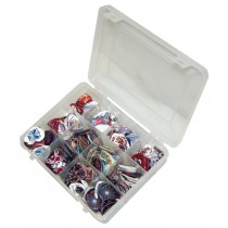 -Box of 504 picks / 10 gadges