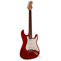 *NEW* TONE STRAT-TYPE ELECTRIC GUITAR - TRANSPARENT RED