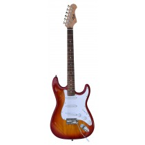 TONE STRAT-STYLE ELECTRIC GUITAR IN CHERRY BURST