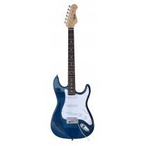 TONE STRAT-STYLE ELECTRIC GUITAR IN TRANSPARENT BLUE