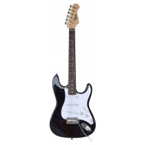 TONE STRAT-STYLE JUNIOR ELECTRIC GUITAR IN BLACK