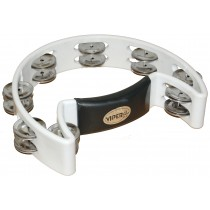 VIPER HALF-MOON TAMBOURINE IN WHITE