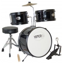 VIPER 3-PIECE JUNIOR DRUMKIT IN BLACK