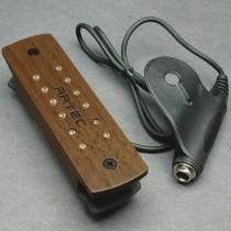 ARTEC WSH12 Soundhole Humbucker - ADJUSTABLE POLE PIECES - WALNUT FINISH