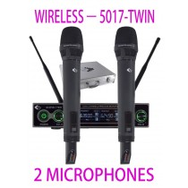 GRF 5017 SERIES - WUHF5017TWIN - WIRELESS MICROPHONES